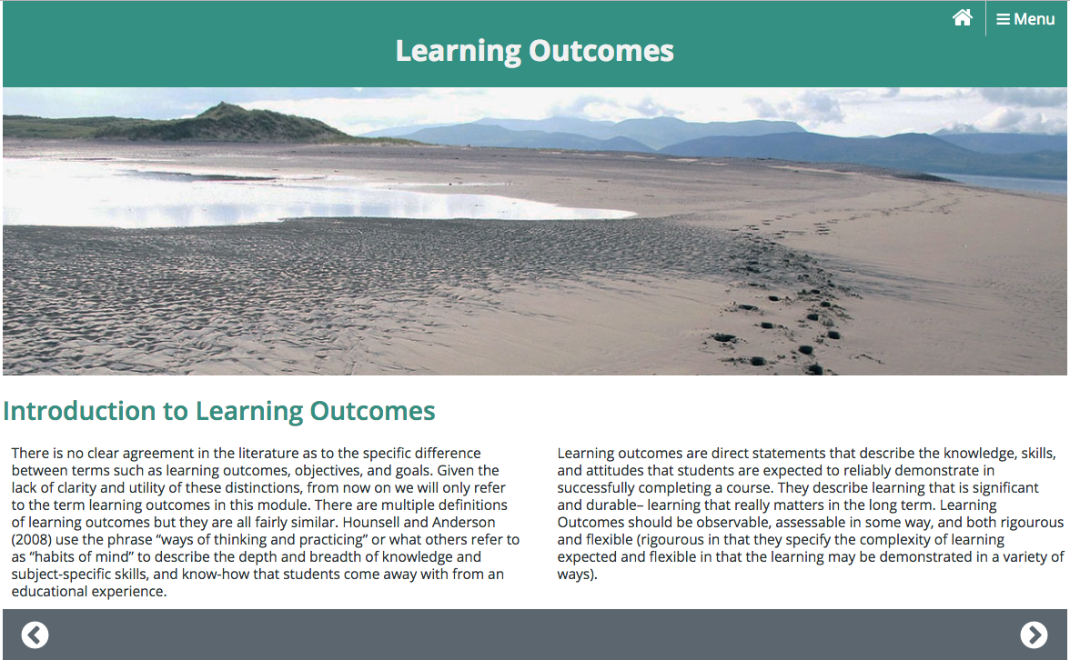 Learning Outcomes Module